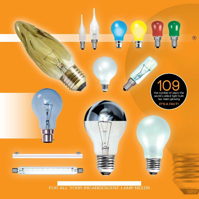 Incandescent lamps from City Lighting Supplies Chelmsford