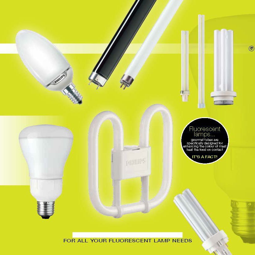 A full range of fluorescent lamps available from City Lighting Chelmsford